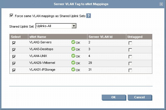 Flex10 VLAN mapping