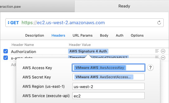AWS Signature 4 Auth extension configuration