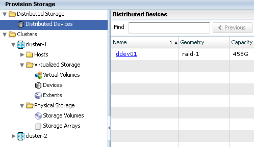 VPLEX distributed devices